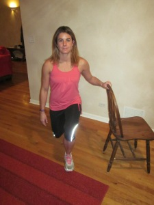 Lunge with chair.