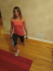 Lunge With Free Weights.