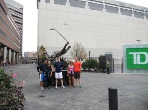 Hanging out with Bobby Orr outside the T.D. Bank Garden