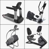 A few examples of cardio equipment.