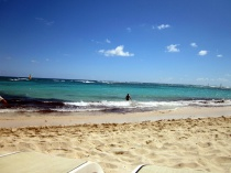 Our last beach trip to Punta Cana.  Looks nice right now!