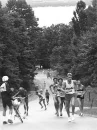 "This is a pic from a race in Traverse City, MI the dreaded ""Mt. McKinley.""  It is truly brutal and to steep that running downhill is scary!"