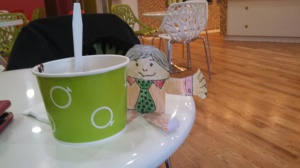 We even took Flat Stanley out for frozen yogurt last night.