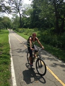 A pic of me on a bike, because I am a bad blogger and didn't take a pic!