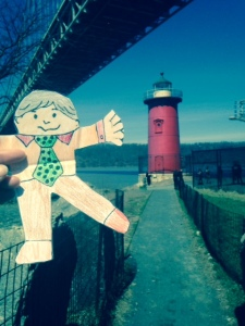 It seems that the only picture I have from running on the West Side is with Flat Stanley.  We had an impromptu 20 mile run together that afternoon.