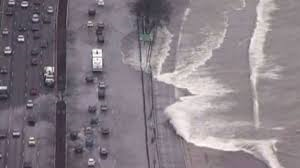 It wasn't as bad as a week ago when the winds forced Lake Michigan to throw itself across Lake Shore Drive!