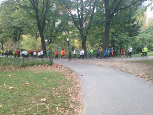I had to take a pic of this huge pre-NYC marathon shake out run.